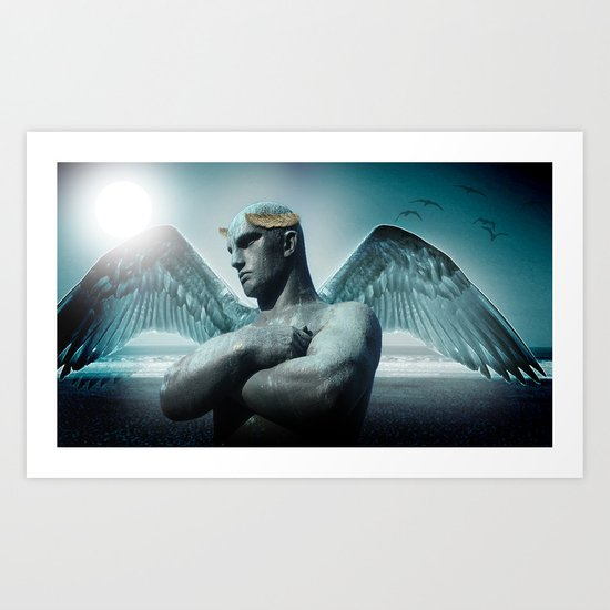 the torment of Icarus Art Print