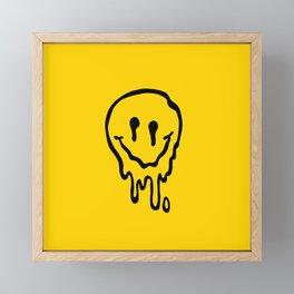 melted smile Framed Mini Art Print