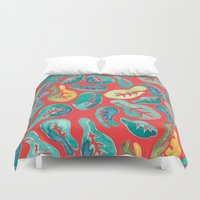 fig Duvet Covers featuring Fiddle Fig by Allison Holdridge