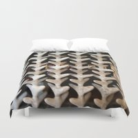 bones Duvet Covers featuring Bones by Larry Fulton