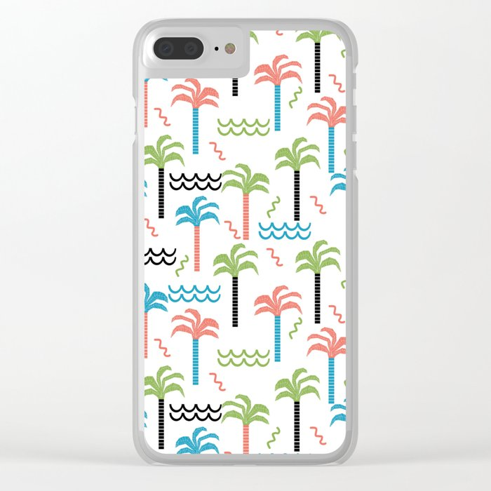 summer tropical shapes modern minimal abstract pattern trendy gifts Clear iPhone Case