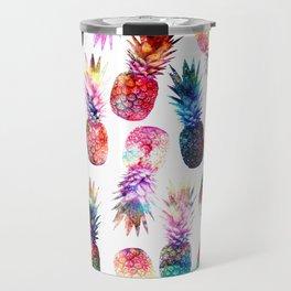 watercolor and nebula pineapples illustration pattern Travel Mug