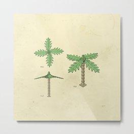 Lego Tree Metal Print