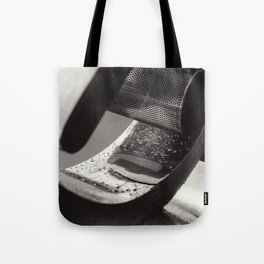 Droplets on Metal Tote Bag