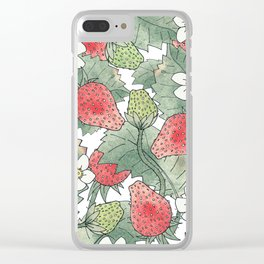 The Strawberry Patch Clear iPhone Case