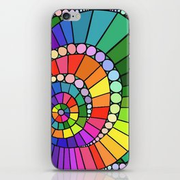 Rainbow Spiral iPhone Skin