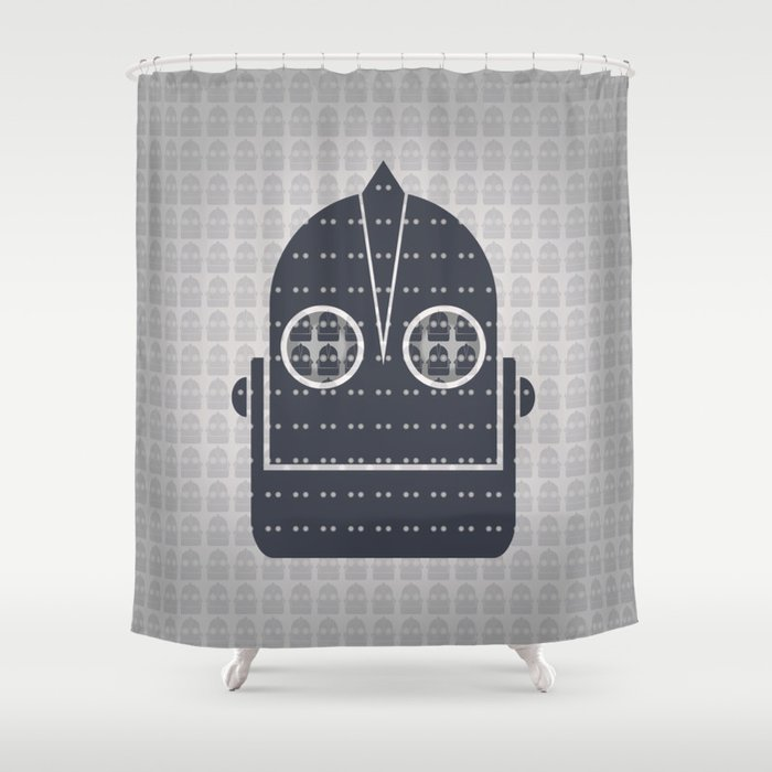 Pattern Of Giant Robot Shower Curtain