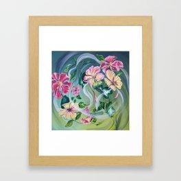 Floral Swirl Framed Art Print