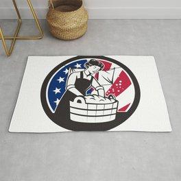 American Laundry USA Flag Icon Rug