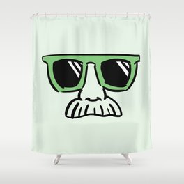 Too Cool (yellow green) Shower Curtain