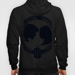Doctor Who pals: the 10th Doctor & Amy Pond (white version) Hoody