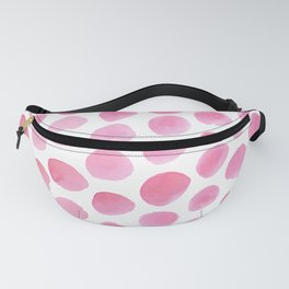 Pink Polka Dot Watercolour Fanny Pack