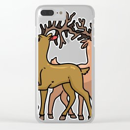 Reindeer Christmas Gift Sledge Funny Clear iPhone Case