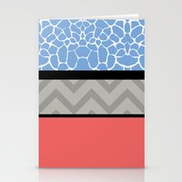 preppy Stationery Cards featuring Confused Preppy Prints by Raizhay Lough