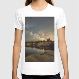 Milkyway at Halibut Point State Park quarry T-shirt