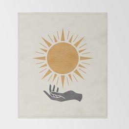 Sunburst Hand Throw Blanket