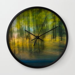 Camel In The Trees Wall Clock