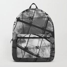 Glass Ceiling IV (Landscape) - Black and White Architectural Photography Backpack