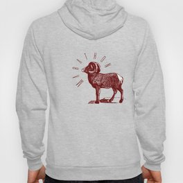 RAM TEE DARK RED Hoody