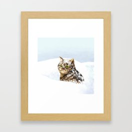 Snowy Cat Framed Art Print
