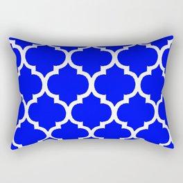 MOROCCAN COBALT BLUE AND WHITE PATTERN Rectangular Pillow