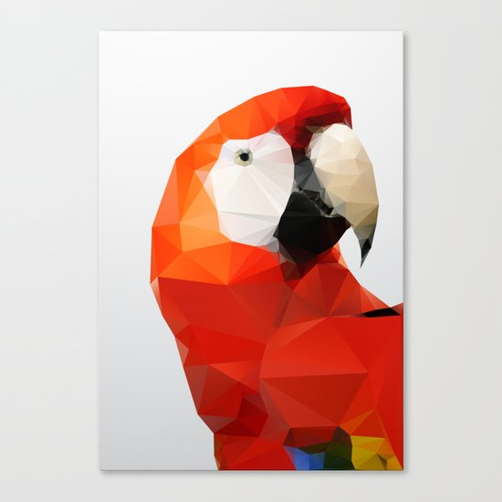 Geo - Parrot red Canvas Print
