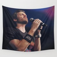 benedict cumberbatch Wall Tapestries featuring Rob Benedict singing by Zomberflie
