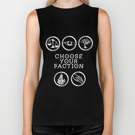 Divergent - Choose Your Faction (White) Biker Tank
