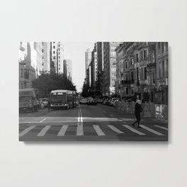 NYC Pedestrian Crossing Metal Print
