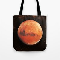 mars Tote Bags featuring MARS by Alexander Pohl