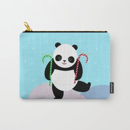 Candy Cane Panda Carry-All Pouch