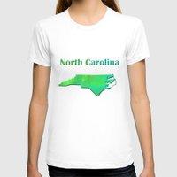 north carolina T-shirts featuring North Carolina Map by Roger Wedegis