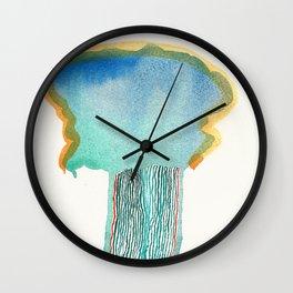 Beauty in destruction-migraine Wall Clock