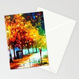 Tardis Starry Light Night Stationery Cards