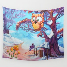 Hibouvernal Wall Tapestry