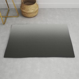 black-and-white  gradient Rug
