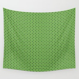 Dog and Bone - Schnauzer mini green Wall Tapestry