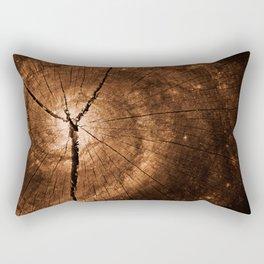 Cracked Wood Galaxy Rectangular Pillow