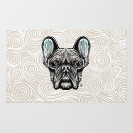 French Bulldog Smilling Rug