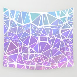 Colorful Boho Low Poly Gradient 5 Wall Tapestry
