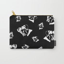 Boxer Dog Black White Carry-All Pouch
