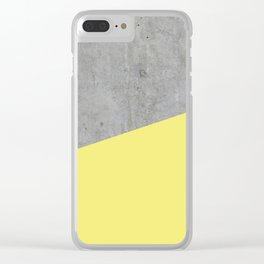 Concrete and Yellow Color Clear iPhone Case