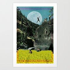 Rapeseed Jump Art Print