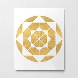 CIRCLES AND SQUARES sacred geometry Metal Print