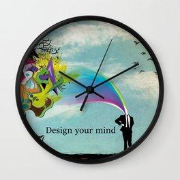 The powerfull mind Wall Clock