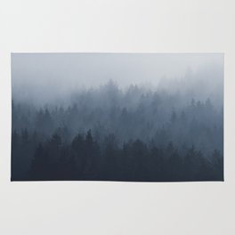 Fog in the forest Rug