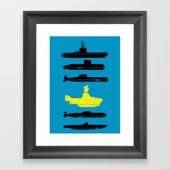 Know Your Submarines V2 Framed Art Print