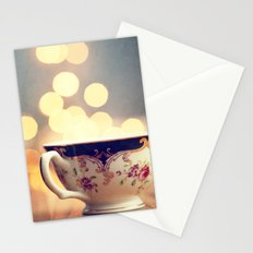 Blue and Gold Steaming Cup Stationery Cards