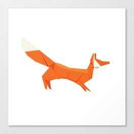 Origami Fox Canvas Print