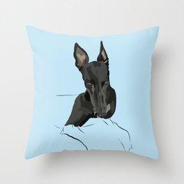 Exasperated Grey Throw Pillow